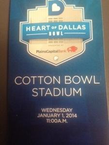 Heart of Dallas Bowl 2014!